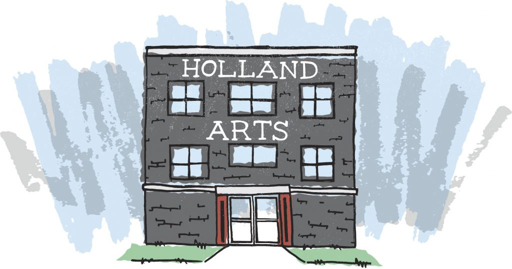 Illustration of Holland Arts Building Front